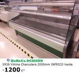 VITRINA CHARCUTERA 2000MM INFRICO VERDE