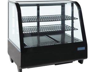 Vitrina refrigerada sobre mostrador 100L. negra Polar