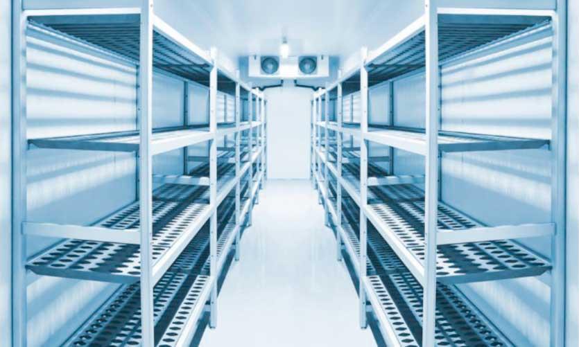 interior cámara frigorífica