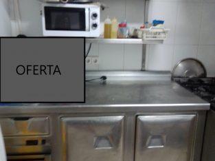 Mueble de acero para almacenaje y encimera cocina industrial
