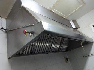 Campana extractora industrial + Motor + Sistema antiincendios