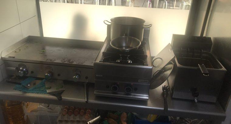 Cocina a gas 2 fuegos SV654 PLG:400X650X280. 8,6 KW
